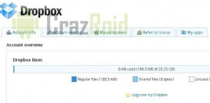 DropBox Free 23 GB Space